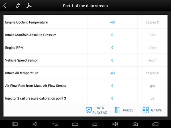 EZ400 Pro Read Live Data