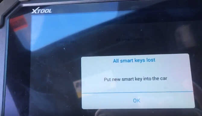 XTOOL X100 PAD2 All Key Lost Programming for Honda Civic 2015 Smart Key (10)